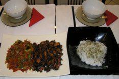 csirke, gyömbér, szezámmag, szója, távol-keleti konyha