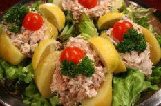 böjt, saláta, tonhal