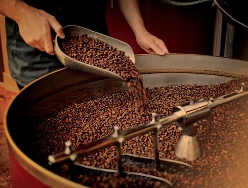 Kávészemek keverése, Kép:Strabucks