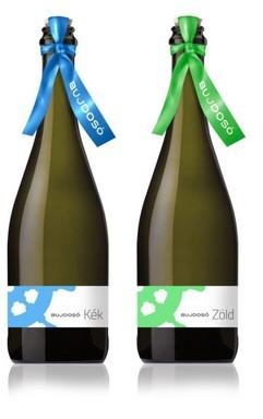 Kék és Zöld - két új borospalack és név, Kép: Bujdosó Pincészet