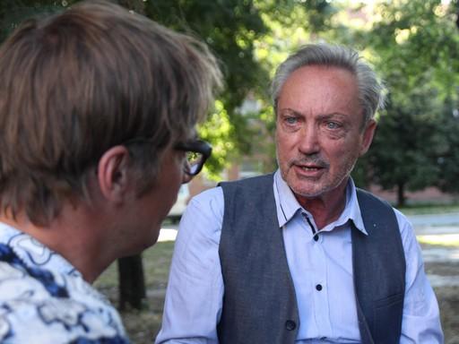 Udo Kiert és Nemes Gyula beszélget, Kép: ZERO
