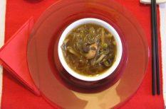 alaplé, csirke, kínai konyha, leves, szója