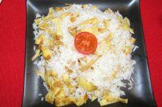 hús nélküli recept, keleti konyha, recept, rizs, tojás