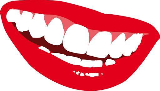 Stilizált mosolygó száj, Kép: pixabay