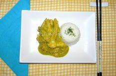 csípős, csirkemell, curry, egészséges, joghurt, keleti konyha