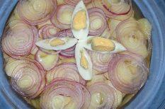 burgonya, saláta, salátalé