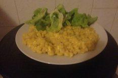 nokedli, saláta, tavaszi recept, tojás