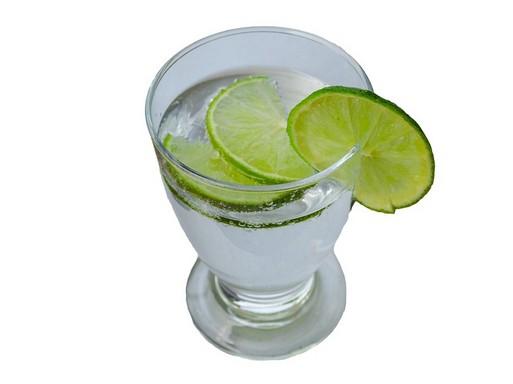 Egy pohár ásványvíz citromkarikákkal, Kép: pixabay