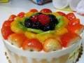 gyümölcs, puding, sütés nélkül, torta