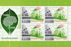 bélyeg, Európai Postaüzemeltetők Egyesülete, Gondolkodj zölden!, környezetvédelem, Magyar Posta