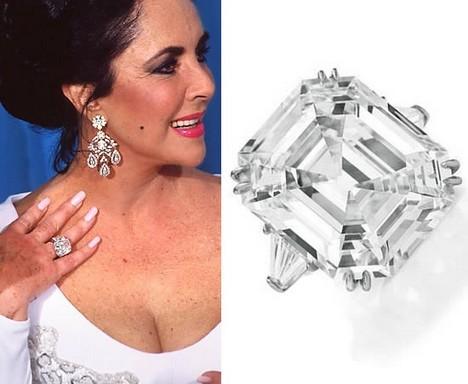 Liz Taylor és az emlékezetes eljegyzési gyűrű, Kép: FEIL