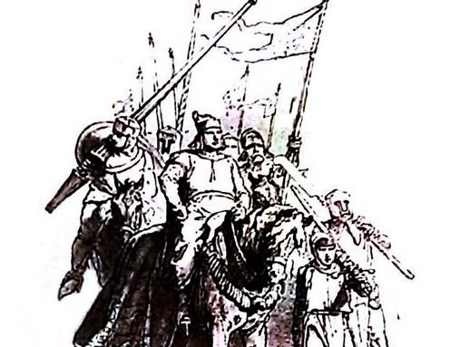 Walesi bárdok - Zichy-illusztráció Arany János balladájához
