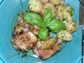 csirkecomb, édeskömény, tavaszi fogás, újkrumpli