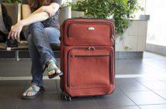 biztonság, poggyász, repülőtér, utazás