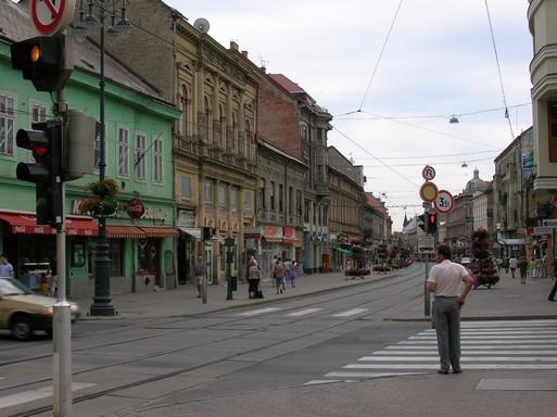 Miskolc, utcakép, Kép: wikimedia