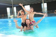 apa, család, felügyelet, gyerek, játék, nyár, szülő, vakáció