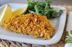 egészséges étel, hal, kukoricapehely, panírozás