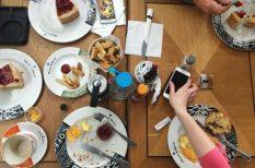 érdekesség, étkezés, felmérés, mobiltelefon, szokások, vendéglátás