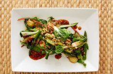 mangold, spárga, svéd recept, wok