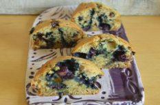 áfonya, desszert, egyszerű, gyorsan, muffin
