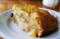 almás, egyszerű, klasszikus, ősz, pite, sütemény
