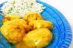 curry, darált hús, egzotikus, húsgombóc, indiai
