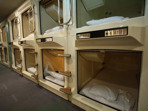 Kapszulás hotel, Kép: Japánspecialista