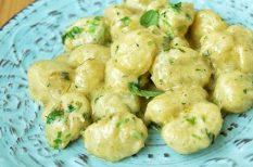 burgonya, gnocchi, sajtos, tészta