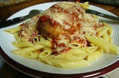csirke, olasz, paradicsom, paradicsomos, rántott, szósz