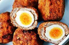 darált hús, panírozás, piknikre, skót, tojás