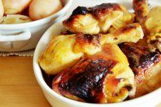 csirke, narancslé, sült, ünnep, vasárnap, vasárnapi ebéd