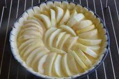 alma, egészséges, ősz, sütemény