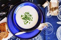 egészséges, gyors, karfiol, leves