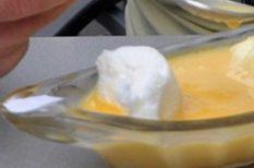 desszert, madártej, mikrohullámú sütő, tojás