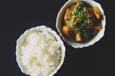egzotikus, indiai, keleti konyha, korma, pulyka