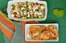 egészséges, feta, GI-diéta, karfiol, paprika, újhagyma