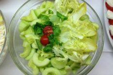 egészség, francia zeller, ínyencség, saláta