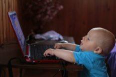 biztonság, gyerekek, internet, számítógép, szülők, veszély