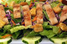 Cézár saláta, csirke, dresszing, római saláta