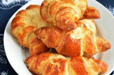 croissant, hajtogatás, otthon, vaj, vajas tészta