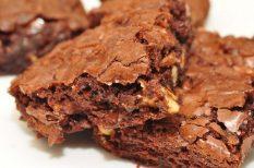 brownie, csoki, sügtemény, ünnep