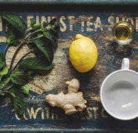 citrom, gyömbér, megfázás, tea