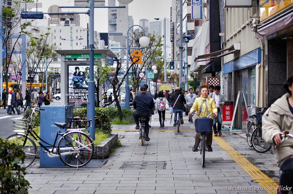 Japán utcakép nappal, Kép: Japánspecialista