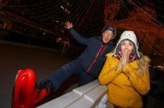 hütte, karácsony, korcsolya, Mikike, Peller Anna, ünnep