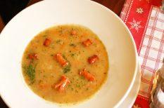 burgonya, leves, német burgonyaleves, petrezselyem, póréhagyma, sárgarépa, zeller