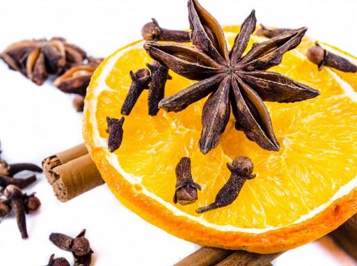Narancs, csillagánizs, szegfűszeg, Kép: publicdomainpictures