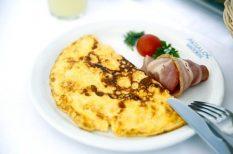 egészséges, omlett, reggeli, tojás