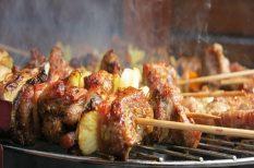 grill, nyárs, rablóhús, saslik