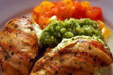 csirke, csirkemell, gyors vacsora, sajt, tejföl