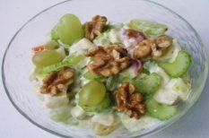 alma, saláta, szőlő, Waldorf, zeller
